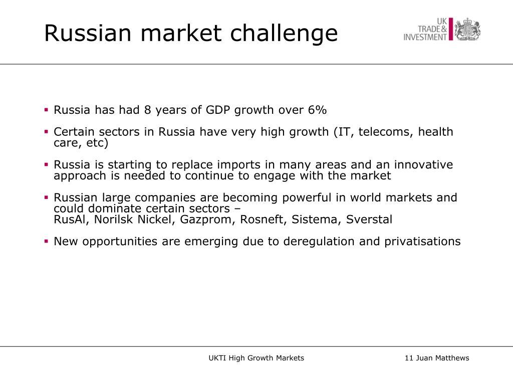 Russian market challenge