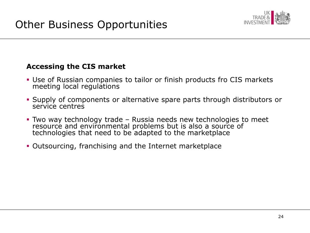 Other Business Opportunities