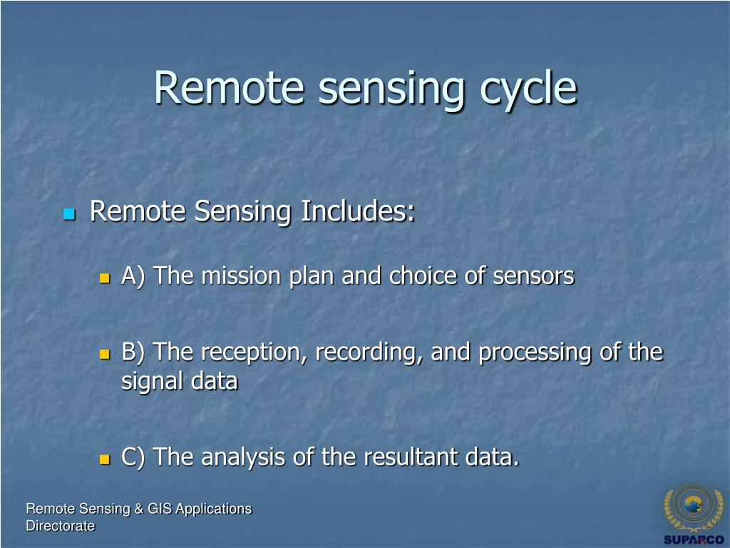 Remote sensing cycle