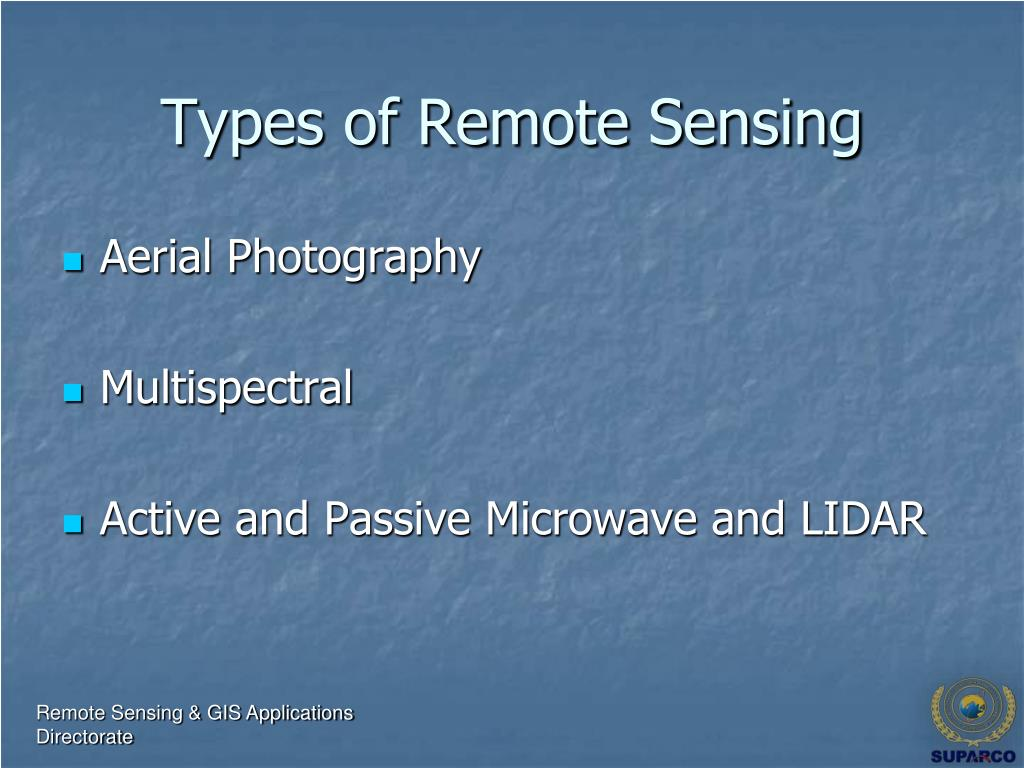 Types of Remote Sensing