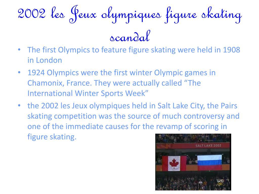 2002 les Jeux olympiques figure skating scandal