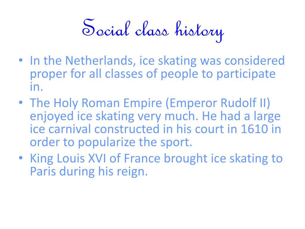 Social class history