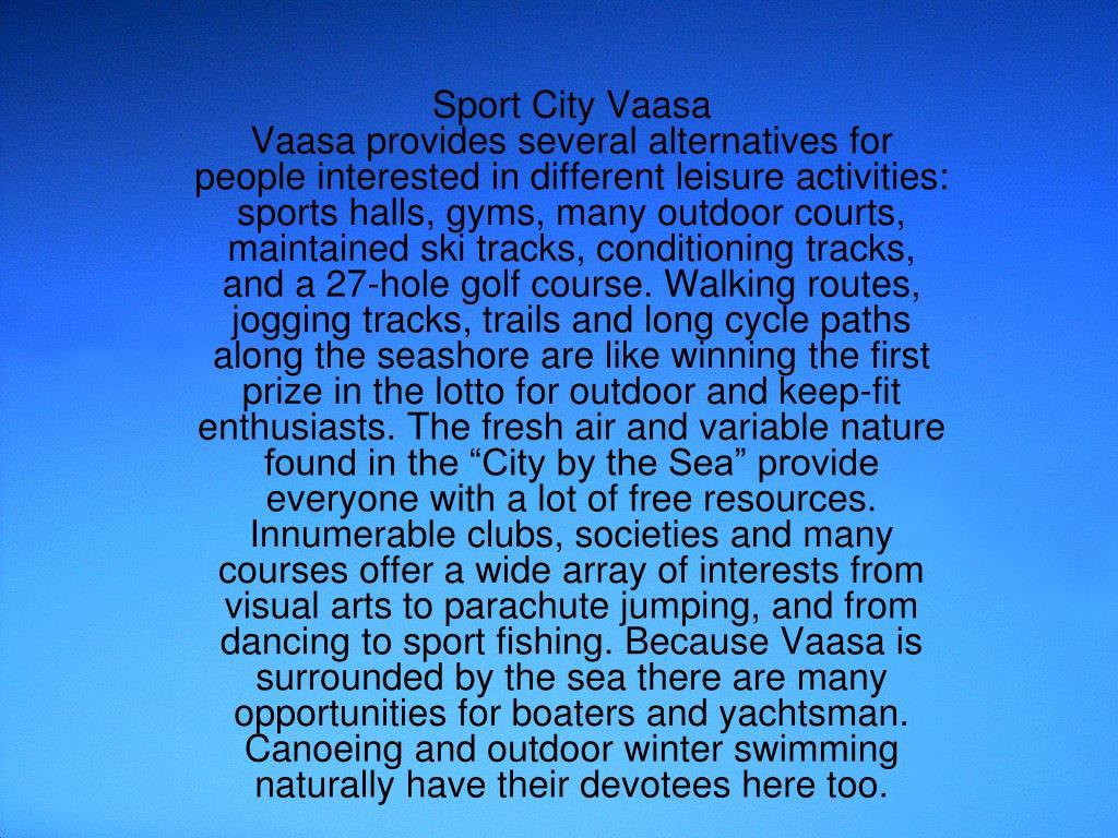 Sport City Vaasa