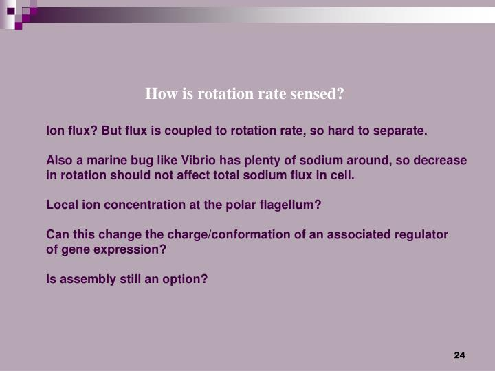 How is rotation rate sensed?