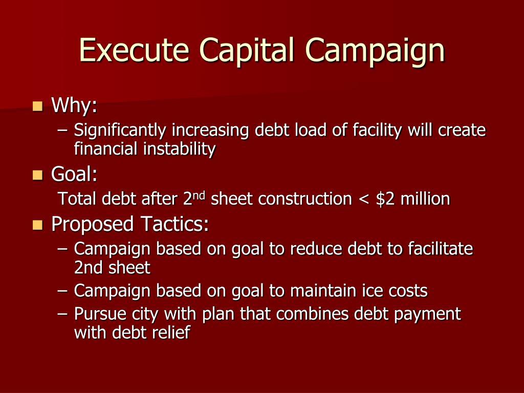 Execute Capital Campaign