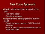 task force approach