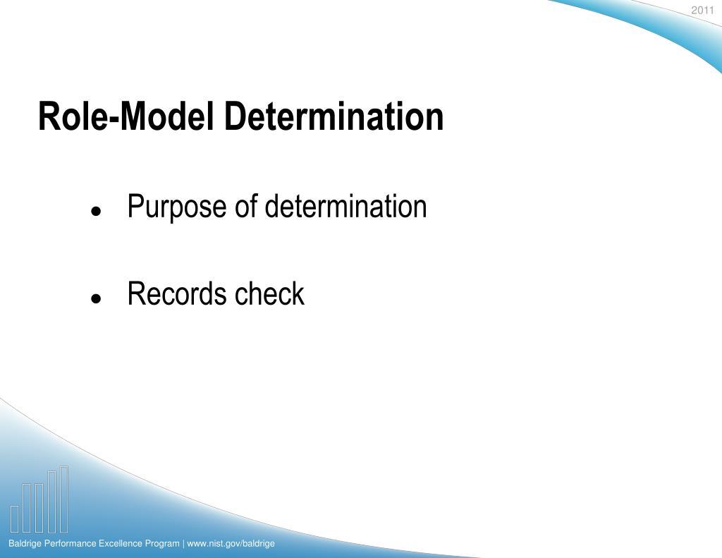 Role-Model Determination