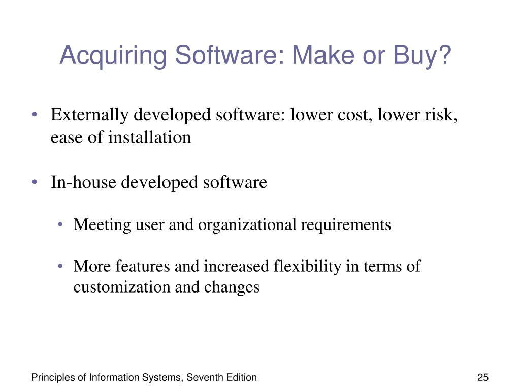 Acquiring Software: Make or Buy?
