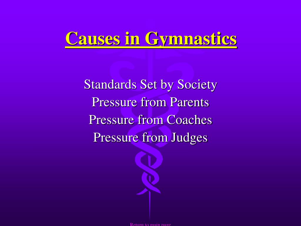 Causes in Gymnastics