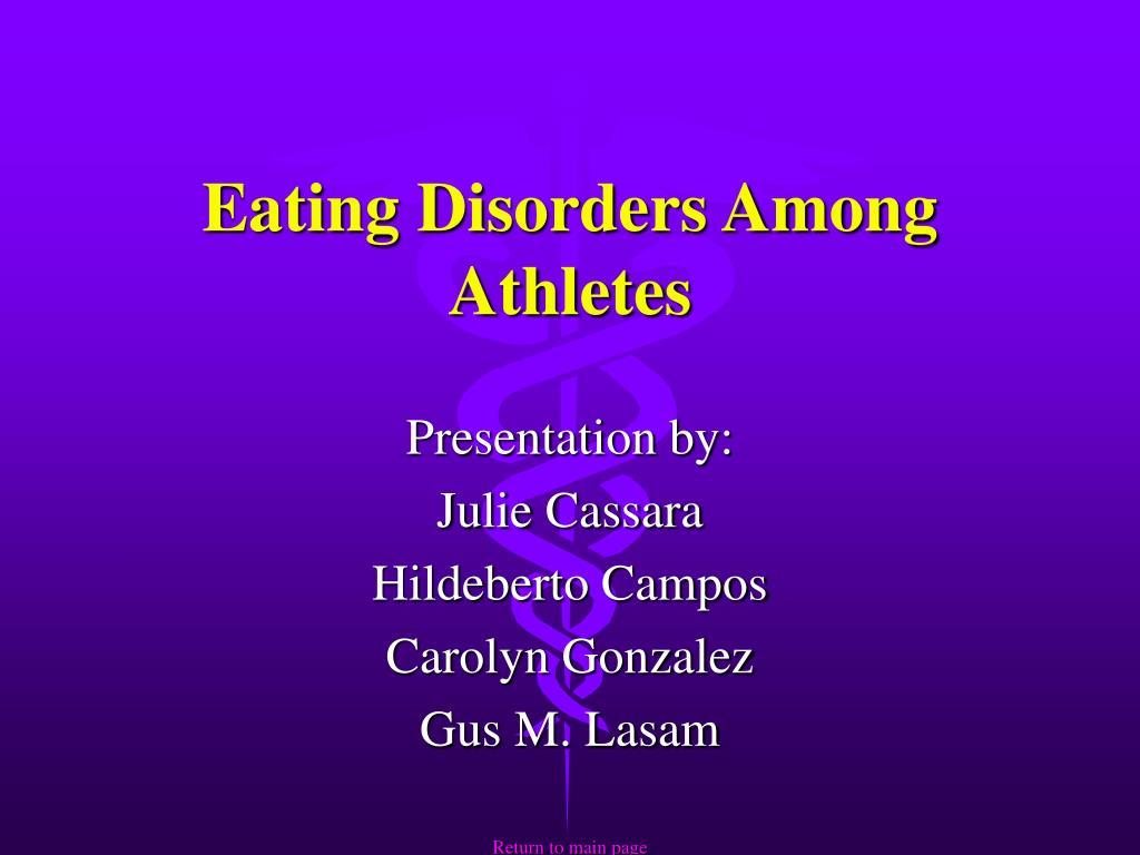 Eating Disorders Among Athletes