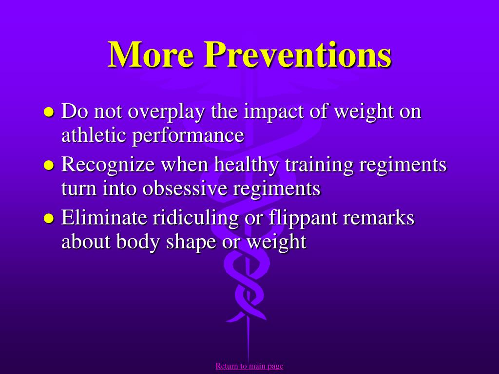 More Preventions