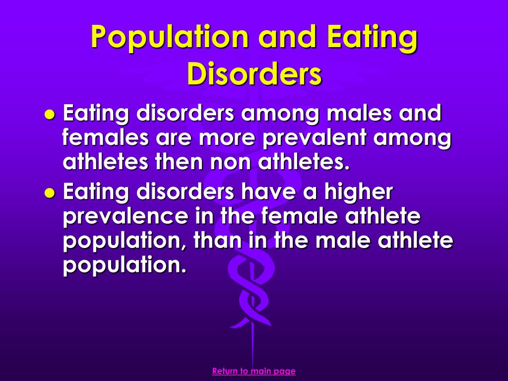 Population and Eating Disorders
