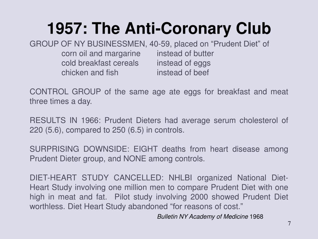 1957: The Anti-Coronary Club