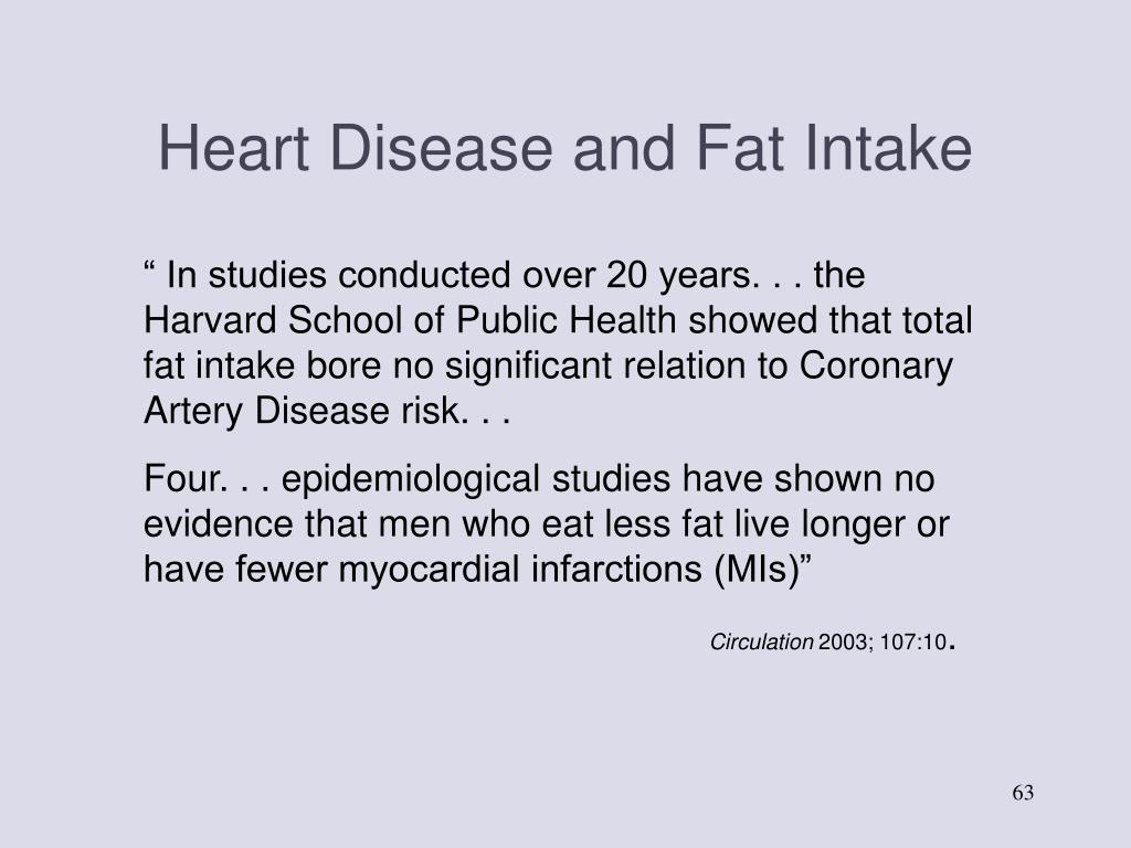 Heart Disease and Fat Intake
