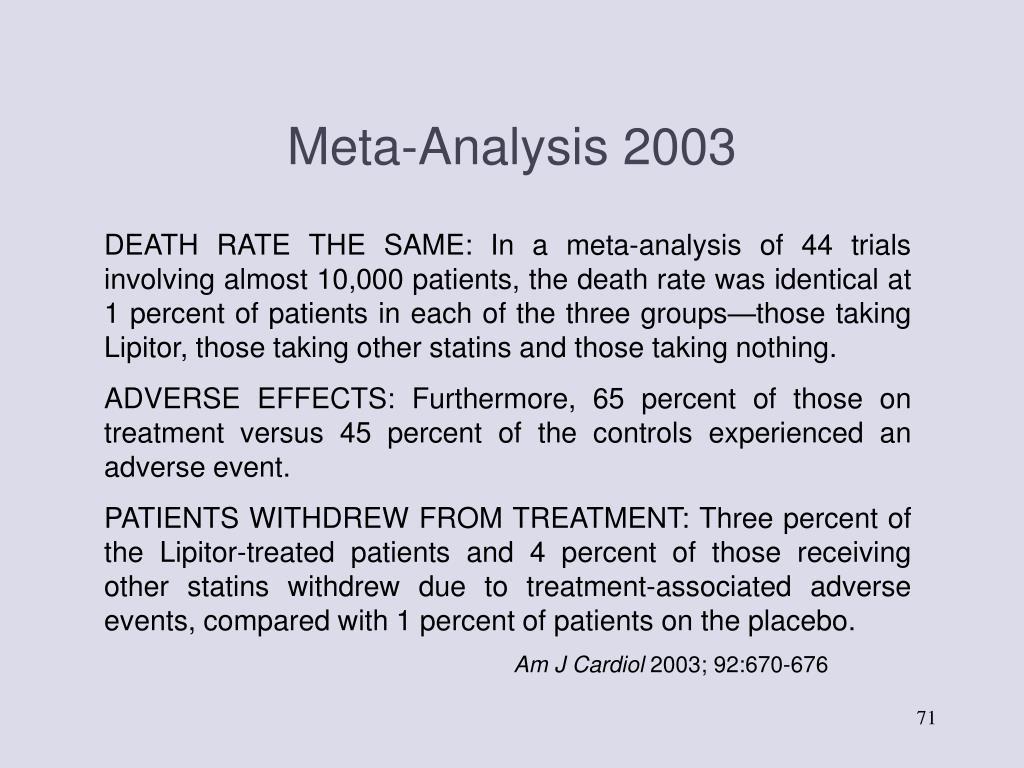 Meta-Analysis 2003