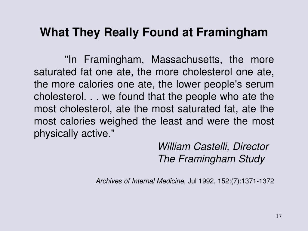 What They Really Found at Framingham