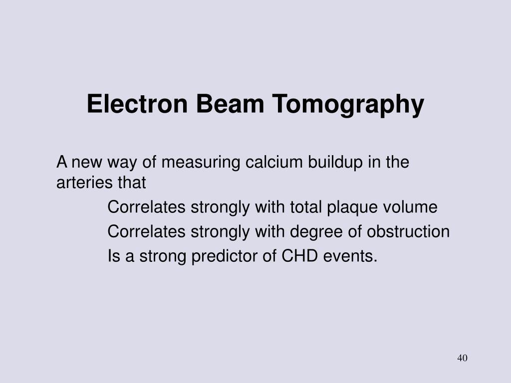 Electron Beam Tomography