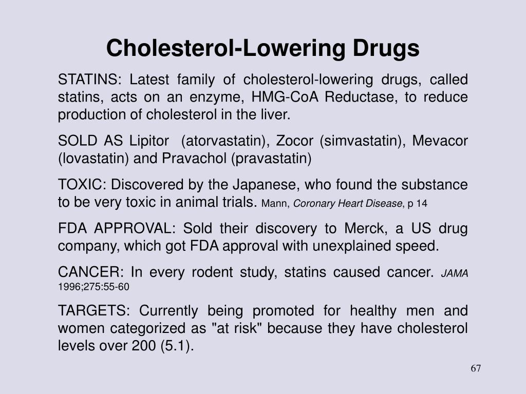 Cholesterol-Lowering Drugs