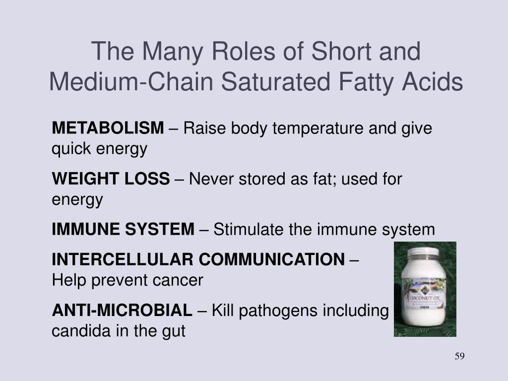 The Many Roles of Short and Medium-Chain Saturated Fatty Acids