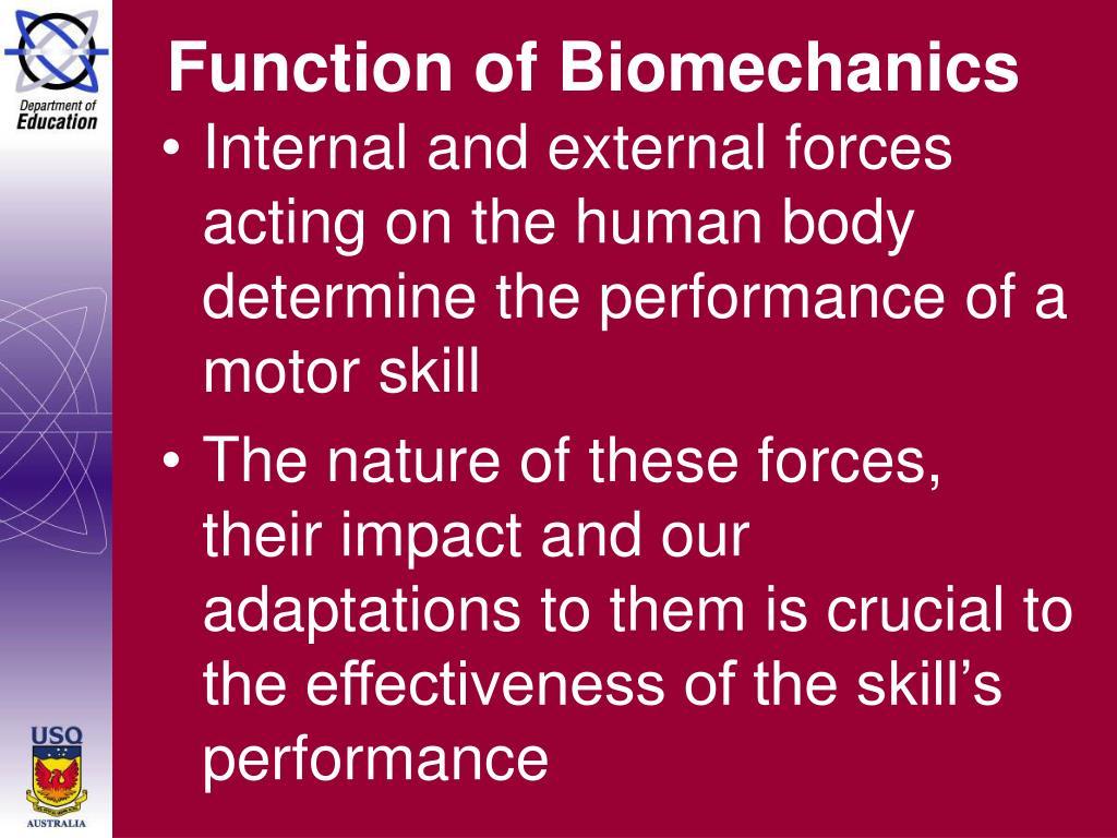 Function of Biomechanics