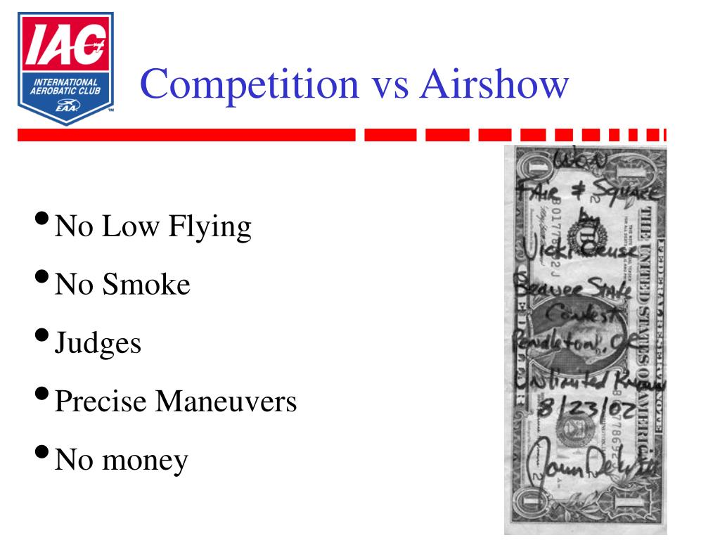 Competition vs Airshow