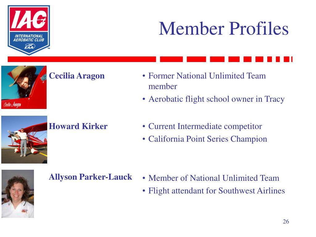 Member Profiles