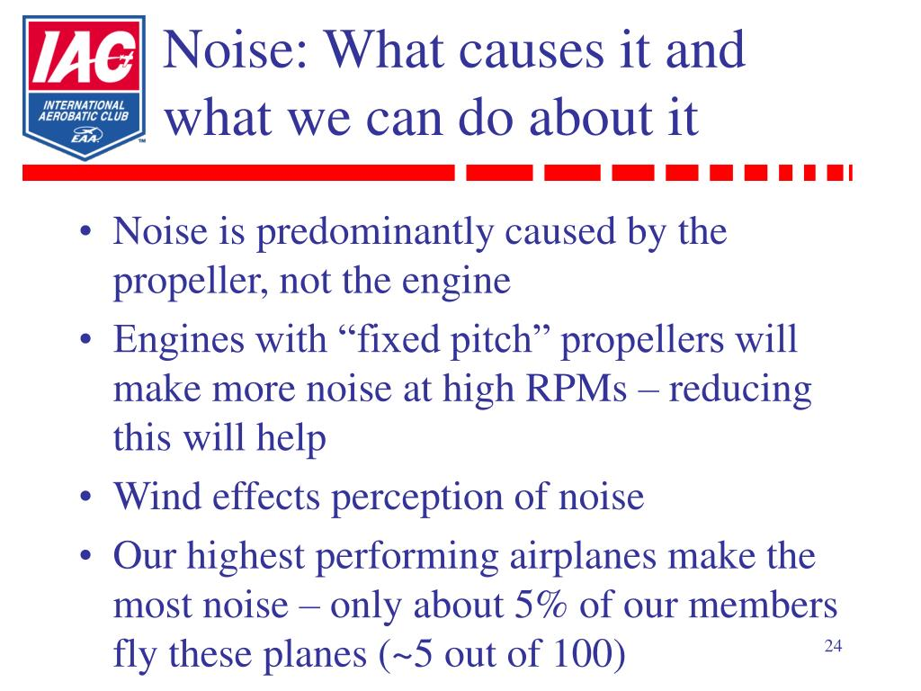 Noise: What causes it and what we can do about it
