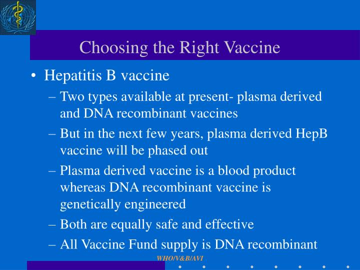 Choosing the Right Vaccine