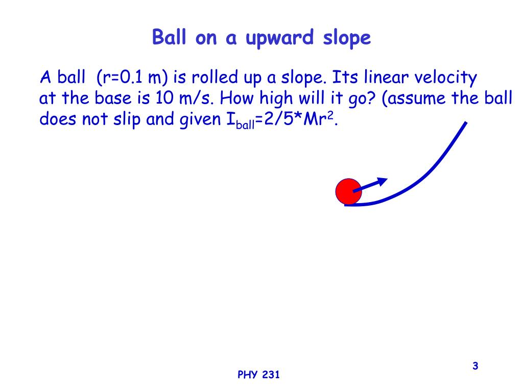 Ball on a upward slope