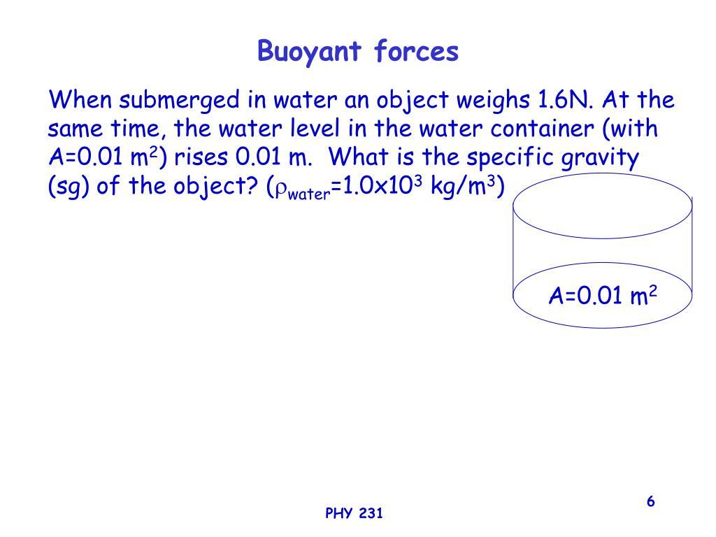 Buoyant forces