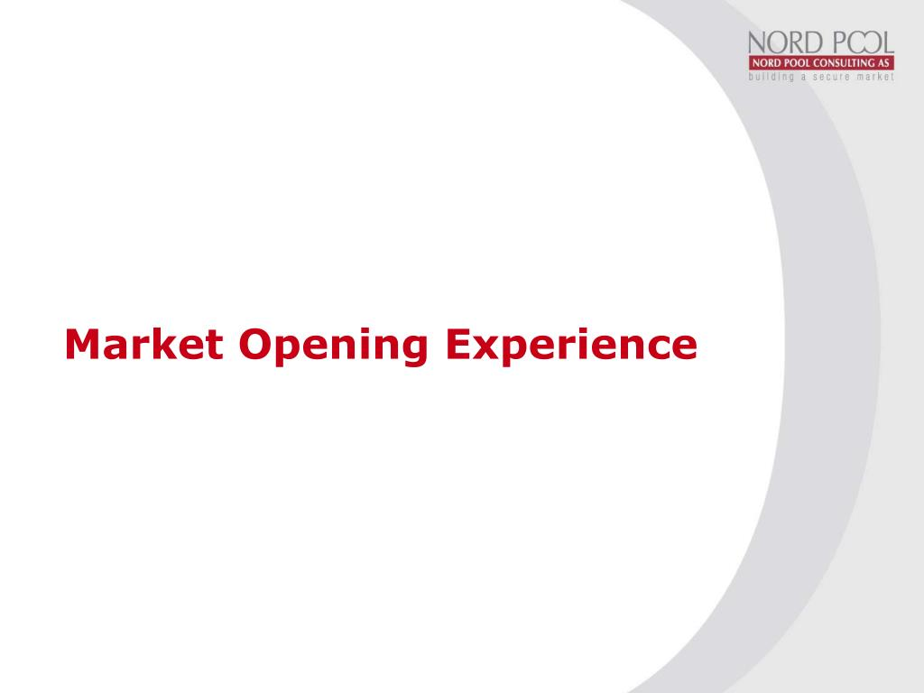 Market Opening Experience