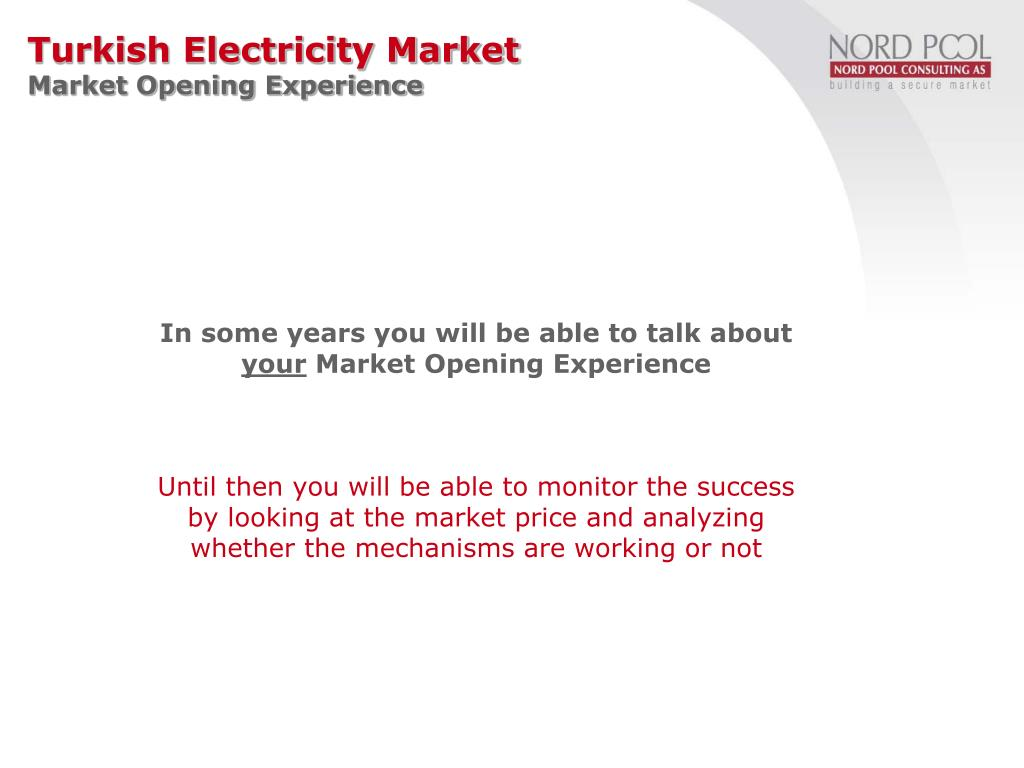Turkish Electricity Market