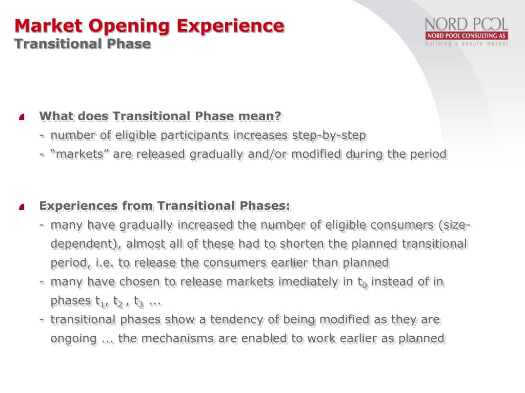 What does Transitional Phase mean?