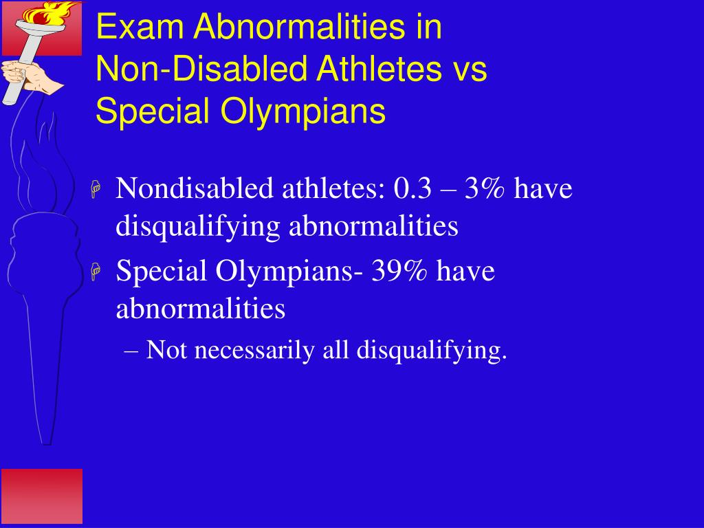 Exam Abnormalities in