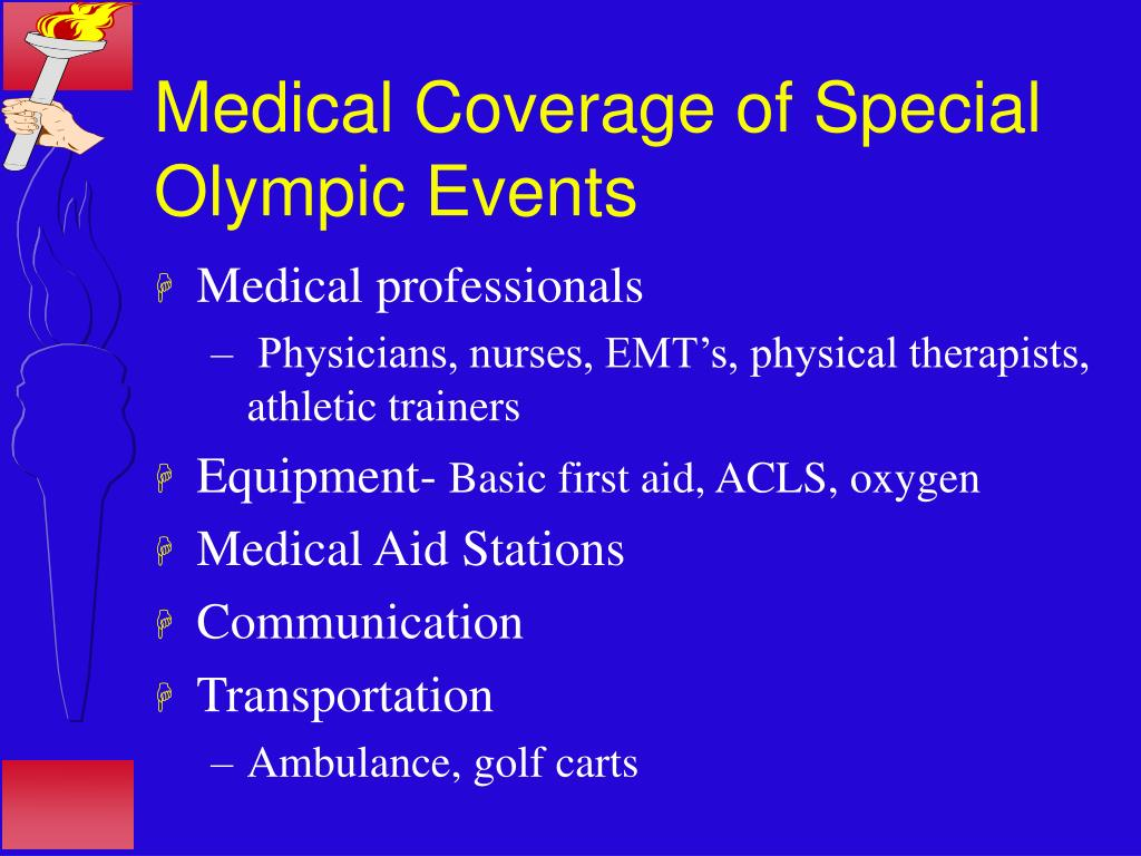 Medical Coverage of Special Olympic Events