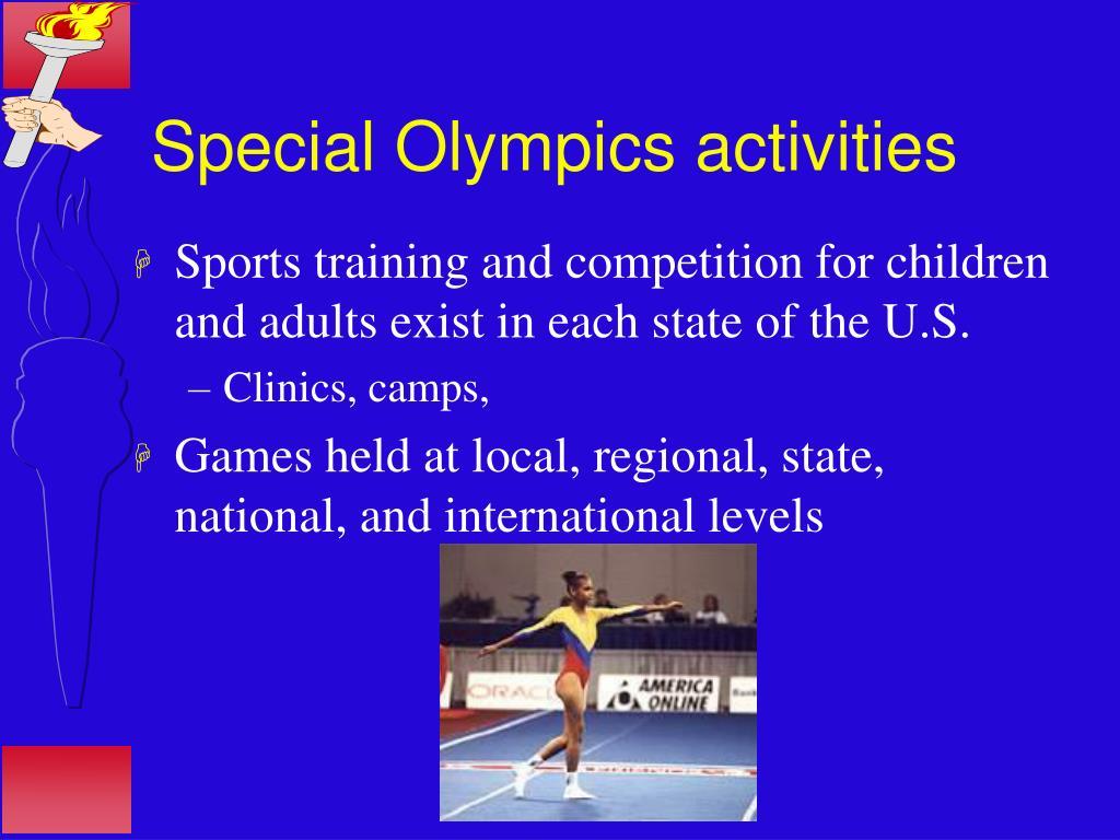 Special Olympics activities