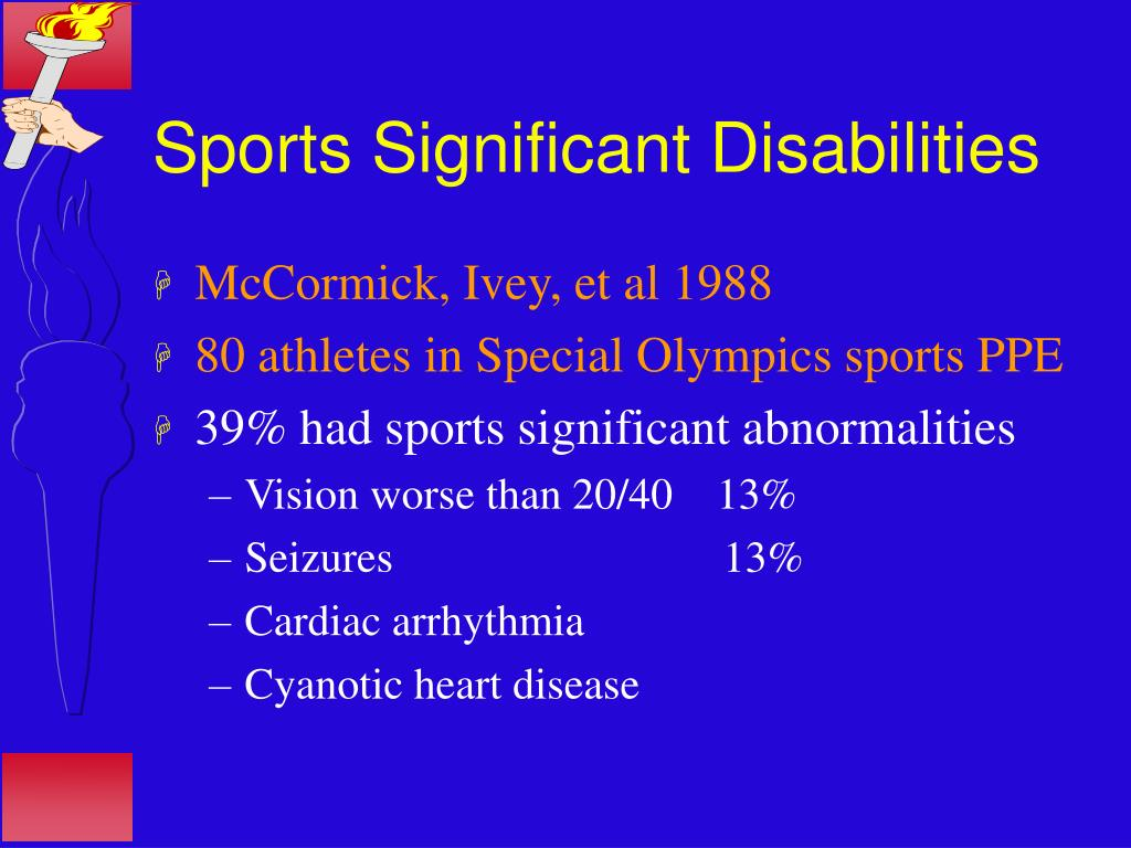 Sports Significant Disabilities