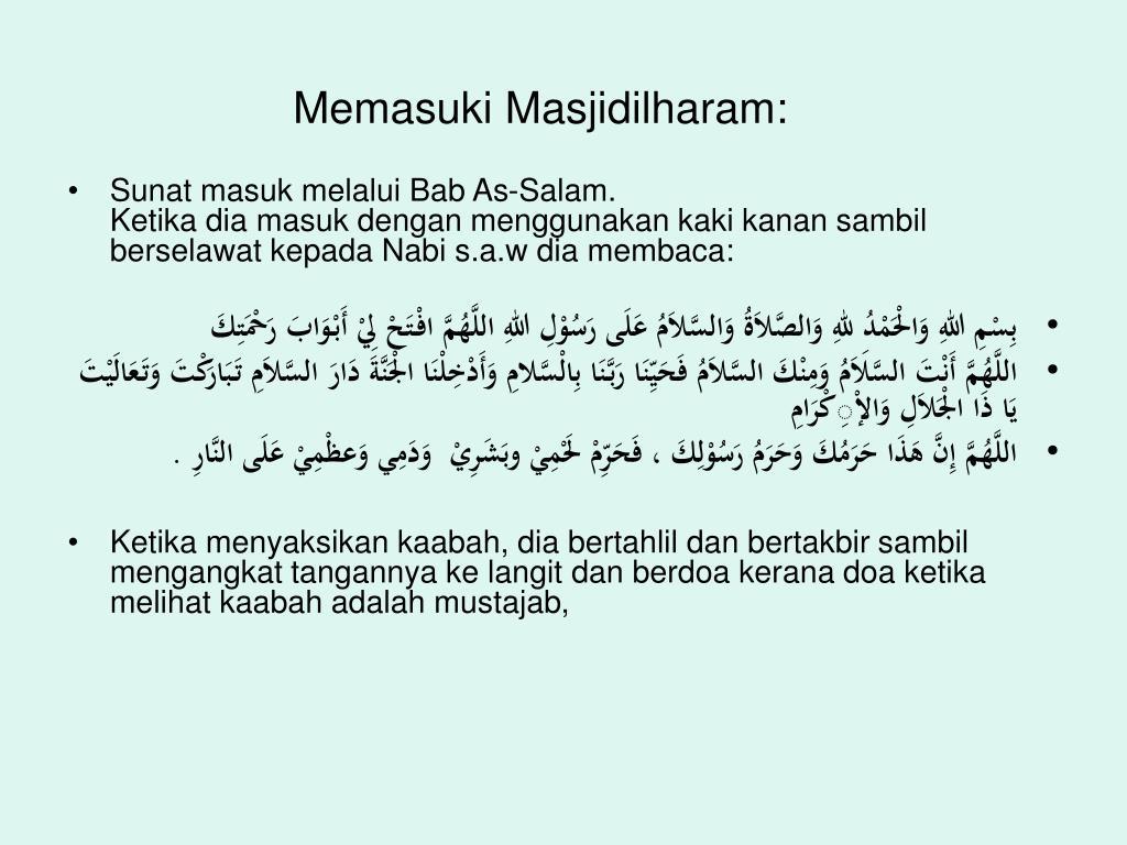 Memasuki Masjidilharam: