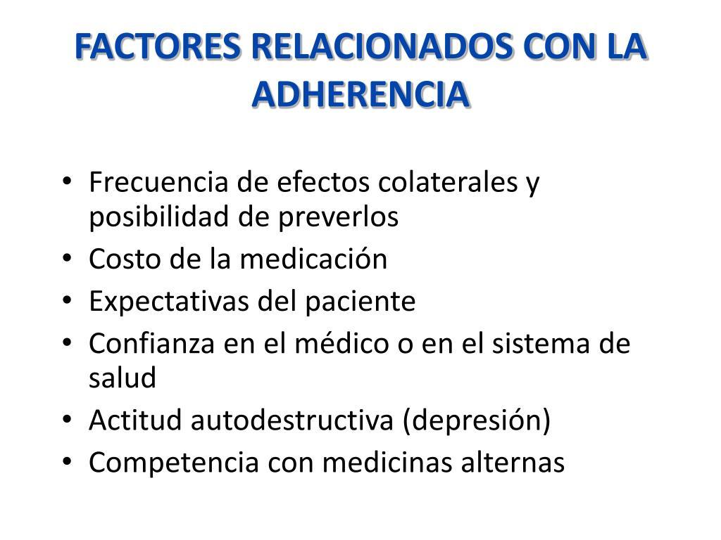FACTORES RELACIONADOS CON LA ADHERENCIA