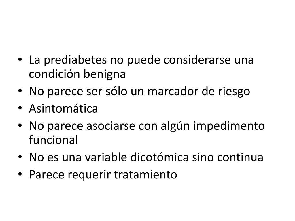 La prediabetes no puede considerarse una condición benigna