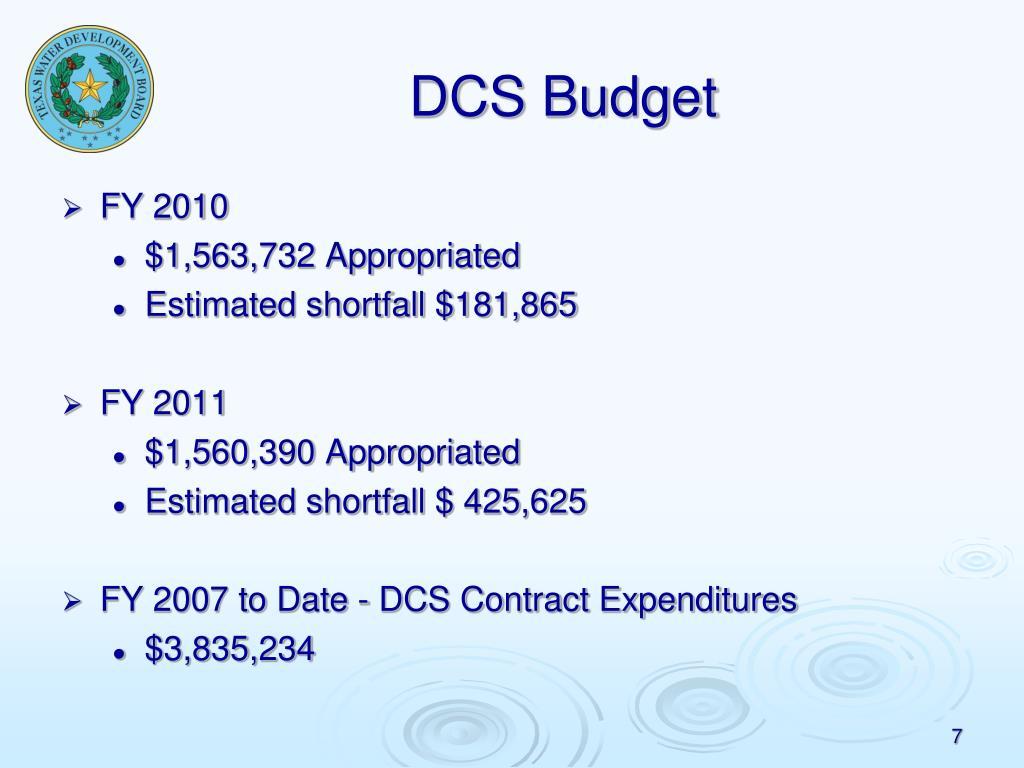 DCS Budget