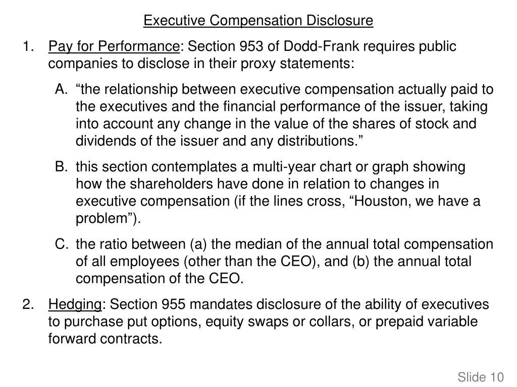 Executive Compensation Disclosure