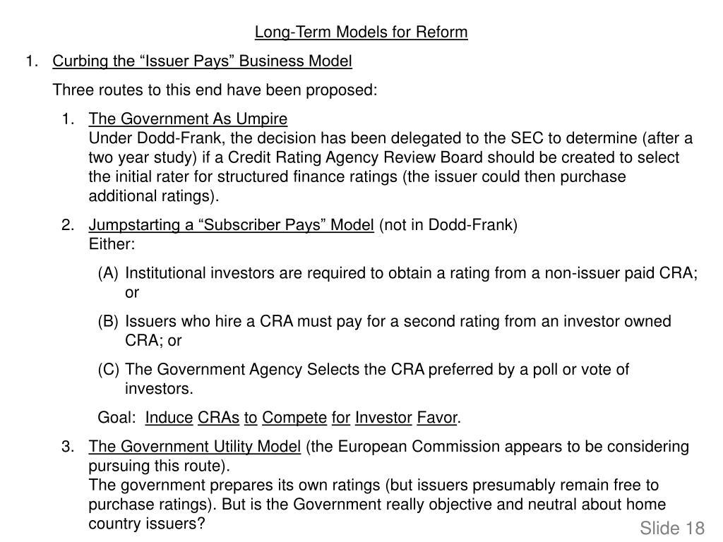 Long-Term Models for Reform
