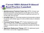current mhsa related evidenced based practices launched