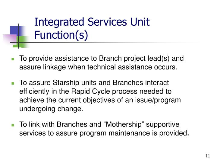 Integrated Services Unit