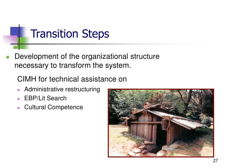 Transition Steps