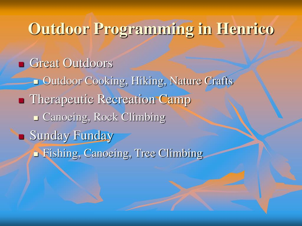 Outdoor Programming in Henrico
