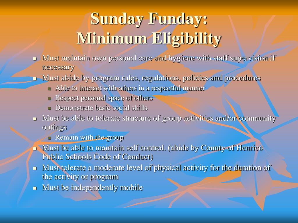 Sunday Funday: