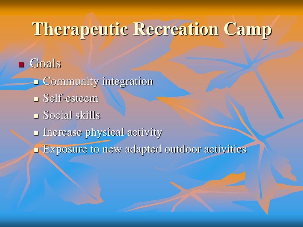 Therapeutic Recreation Camp