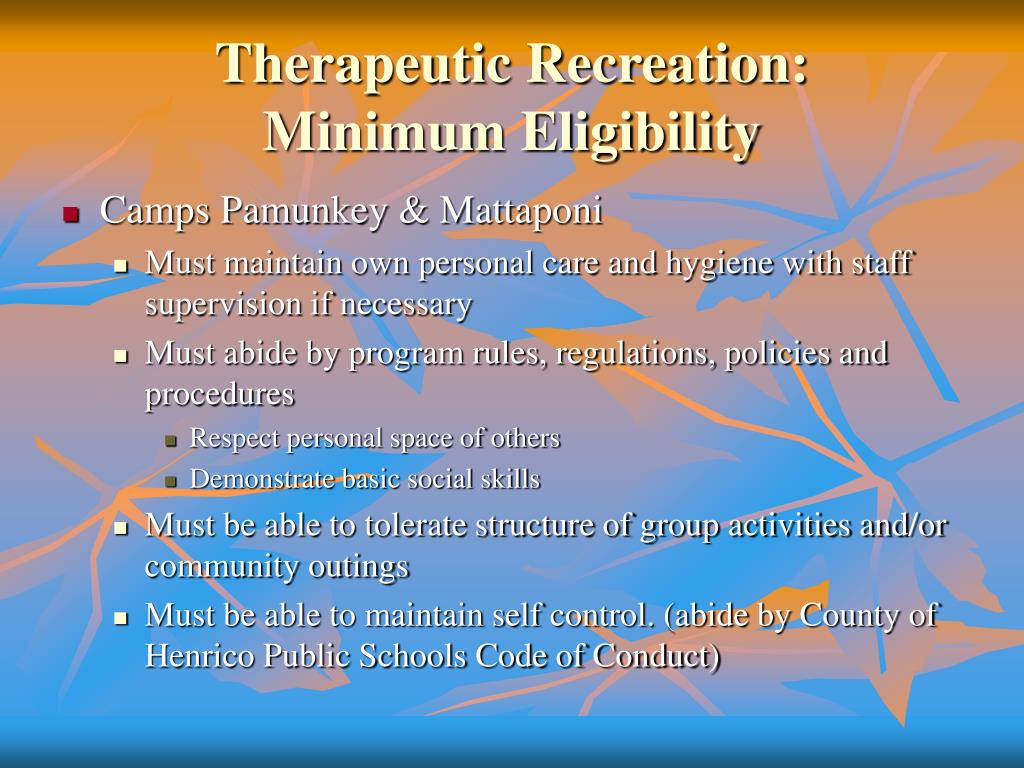 Therapeutic Recreation:
